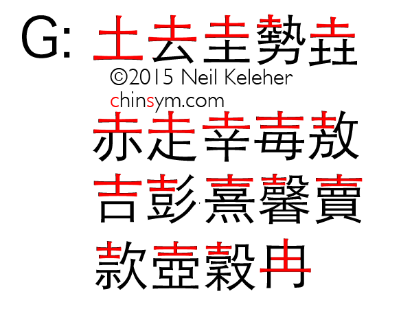 Index of Chinese characters that have cangjie input codes that begin with the following 土-shape (Earth) based radicals: 土, 去, 走, 士, 壽. Includes character definition for each linked character. Neil Keleher, chinsym.zeroparallax.com .